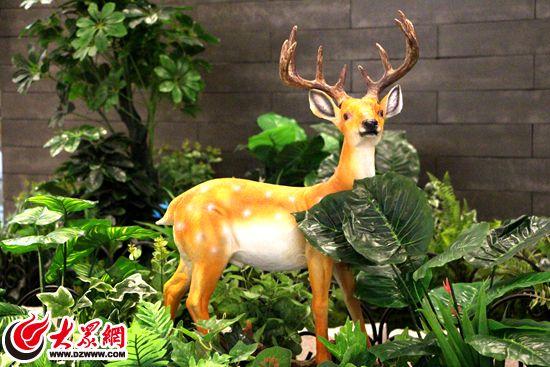 6 商场内逼真动物模型