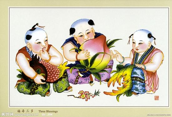 插图:天津杨柳青木版年画