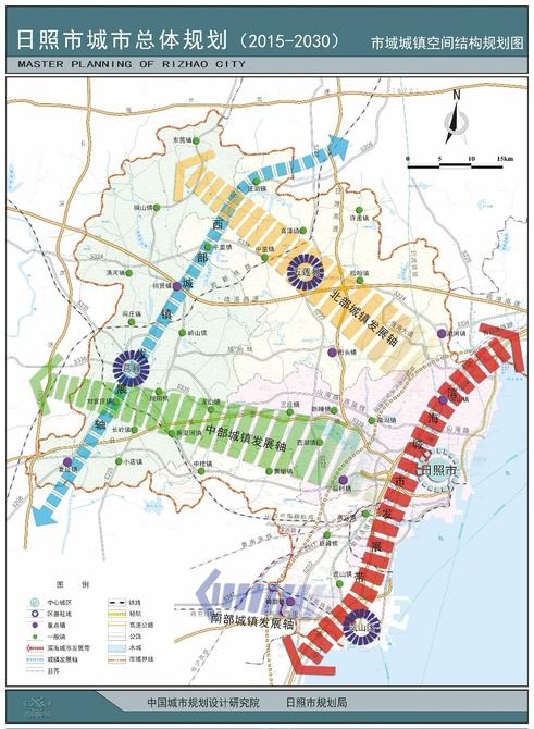 市域城市空间结构规划图