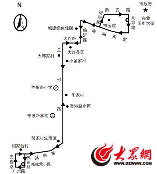 29路公交车线路图