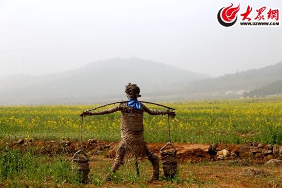 莒县浮来山风景区千亩油菜花争先绽放