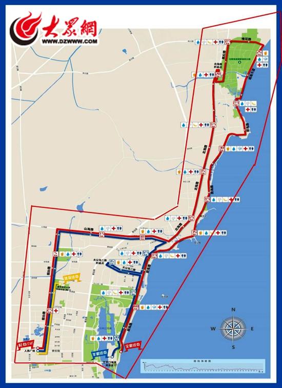2017 日照国际马拉松比赛临时空中管制区示意图