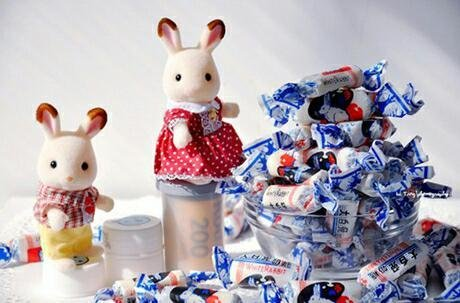 找一对可爱的大白兔图片
